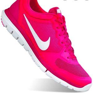 Nike Fitsole flex 2015 run hot pink women's shoes